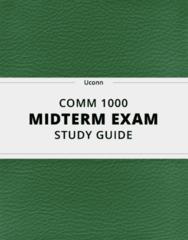 COMM 1000 Study Guide - Comprehensive Midterm Guide: Nonverbal Communication, Linguistics, Interpersonal Communication