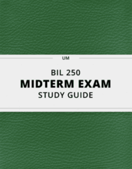 [BIL 250] - Midterm Exam Guide - Ultimate 31 pages long Study Guide!