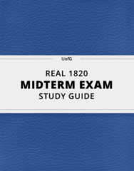 [REAL 1820] - Midterm Exam Guide - Ultimate 20 pages long Study Guide!