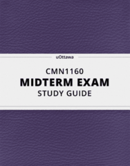 [CMN1160] - Midterm Exam Guide - Ultimate 17 pages long Study Guide!