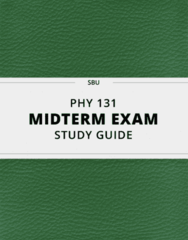 [PHY 131] - Midterm Exam Guide - Ultimate 25 pages long Study Guide!