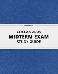[COLLAB 2D03] - Midterm Exam Guide - Everything you need to know! (13 pages long)