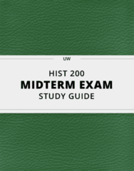 [HIST 200] - Midterm Exam Guide - Everything you need to know! (21 pages long)