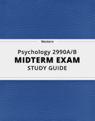 [Psychology 2990A/B] - Midterm Exam Guide - Ultimate 13 pages long Study Guide!