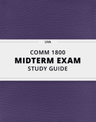 [COMM 1800] - Midterm Exam Guide - Everything you need to know! (26 pages long)