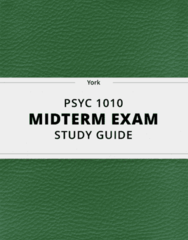 [PSYC 1010] - Midterm Exam Guide - Ultimate 18 pages long Study Guide!