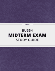 [BU354] - Midterm Exam Guide - Everything you need to know! (21 pages long)