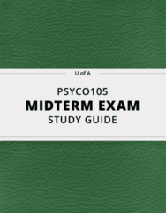 [PSYCO105] - Midterm Exam Guide - Ultimate 12 pages long Study Guide!