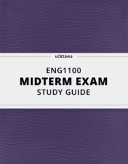 [ENG1100] - Midterm Exam Guide - Everything you need to know! (23 pages long)