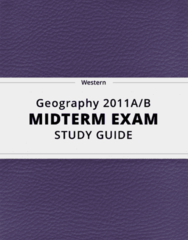 [Geography 2011A/B] - Midterm Exam Guide - Comprehensive Notes for the exam (17 pages long!)