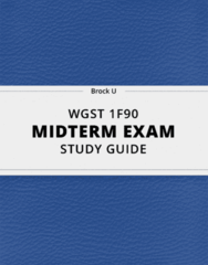 [WGST 1F90] - Midterm Exam Guide - Everything you need to know! (26 pages long)