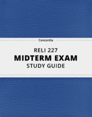 [RELI 227] - Midterm Exam Guide - Ultimate 24 pages long Study Guide!