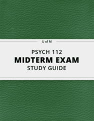 [PSYCH 112] - Midterm Exam Guide - Everything you need to know! (32 pages long)