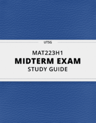 [MAT223H1] - Midterm Exam Guide - Everything you need to know! (89 pages long)