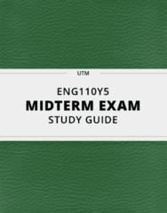 [ENG110Y5] - Midterm Exam Guide - Ultimate 12 pages long Study Guide!