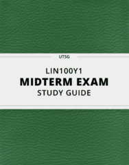 [LIN100Y1] - Midterm Exam Guide - Ultimate 13 pages long Study Guide!