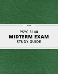 [PSYC 3140] - Midterm Exam Guide - Ultimate 97 pages long Study Guide!