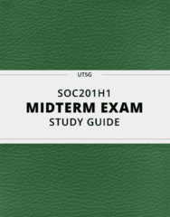 [SOC201H1] - Midterm Exam Guide - Everything you need to know! (24 pages long)