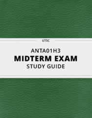 [ANTA01H3] - Midterm Exam Guide - Everything you need to know! (334 pages long)