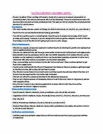 hthsci-3bb3-lecture-9-water-soluble-vitamins-notes