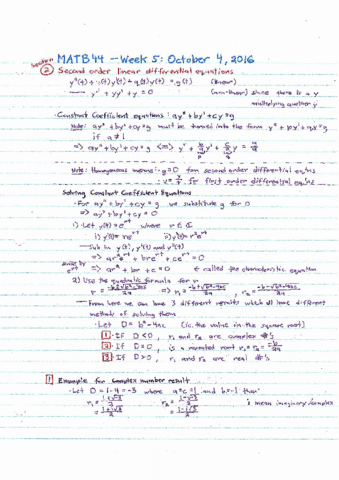 matb44h3-lecture-5-week-5-second-order-odes-wronskien-of-a-differential-equations-and-cramer-s-rule