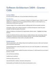 SFWRENG 3A04 Study Guide - Final Guide: Composite Structure Diagram, Software Architecture, User Interface