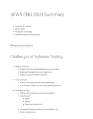 SFWRENG 3S03 Study Guide - Final Guide: Surjective Function, Likert Scale, Quebec Student Sport Federation