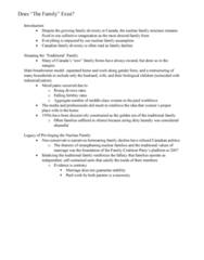 SOC103H1 Chapter Notes - Chapter all: Nuclear Family, Neoconservatism, Moral Panic