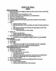 ANTH 2160 Study Guide - Midterm Guide: Techne, Margaret Mead, Trobriand Islands