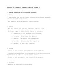GEOG 1120 Lecture Notes - Lecture 5: Corundum, Calcite, Birefringence
