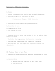 GEOG 1120 Lecture Notes - Lecture 8: Volcanic Glass, Mafic, Mount Vesuvius