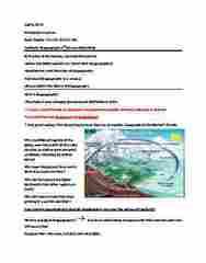 Geography 2320A/B Study Guide - Midterm Guide: Continental Drift, Georges-Louis Leclerc, Comte De Buffon, Carl Linnaeus