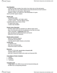 BIOL 1001 Lecture Notes - Lecture 4: Amelogenin, Peptide, Y Chromosome
