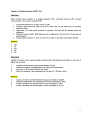 ACCT 301 Lecture Notes - Lecture 4: Financial Statement, Accrual, Deferral