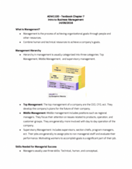 ADM 1100 Chapter Notes - Chapter 7: Starbucks, Strategic Planning, Middle Management