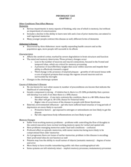 PSYC 3265 Chapter Notes - Chapter 17: Anterograde Amnesia, Procedural Memory, Free Recall