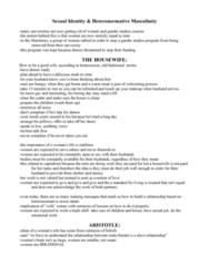 WS100 Lecture Notes - Lecture 16: Gender Studies, Heterosexism, Heteronormativity