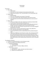 ANTHRO 200 Lecture Notes - Lecture 26: Basseri, Butter Tea, Organic Beef
