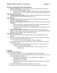 PSYC 3490 Chapter Notes - Chapter 7: Wechsler Adult Intelligence Scale, Neuropsychological Assessment, Semantic Memory