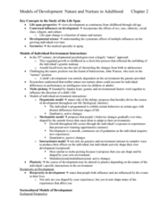 PSYC 3490 Chapter Notes - Chapter 2: Sandra Scarr, Terror Management Theory, Arnold Gesell
