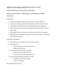 HMED 3075 Lecture Notes - Lecture 16: Erectile Dysfunction, Prescription Drug, Sildenafil