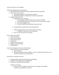 ORGS 5100 Lecture Notes - Lecture 4: Planning Fallacy, Delphi Method