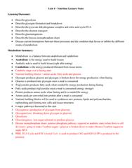 NUTR 3210 Lecture Notes - Lecture 4: Intermembrane Space, Lactate Dehydrogenase, Blood Sugar