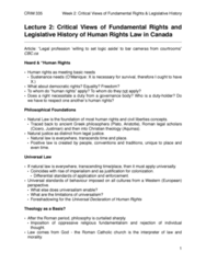 CRIM 335 Lecture Notes - Lecture 2: Postmedia News, Nationstates, Totalitarianism