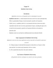 CRIM 220 Chapter Notes - Chapter 10: Focus Group, Thick Description, Standardized Test