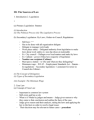 CRIM 135 Lecture Notes - Lecture 2: Precedent, Parliamentary Sovereignty, Occupational Safety And Health