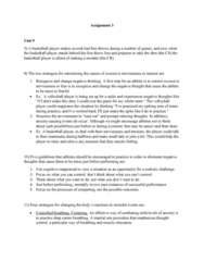 PSYC 2660 Lecture Notes - Lecture 3: Progressive Muscle Relaxation, Free Throw, Task Analysis