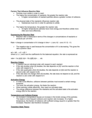sbc 200 Lecture Notes - Lecture 8: Reaction Rate, Reaction Mechanism, Dd National