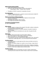 sbc 200 Lecture Notes - Lecture 12: Buffer Solution, Titration, Conjugate Acid
