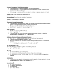 sbc 200 Lecture Notes - Lecture 11: Thermodynamics, Junkers J 1, Stoichiometry